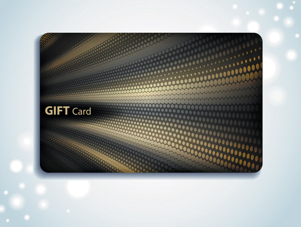 free vector Gift card background vector