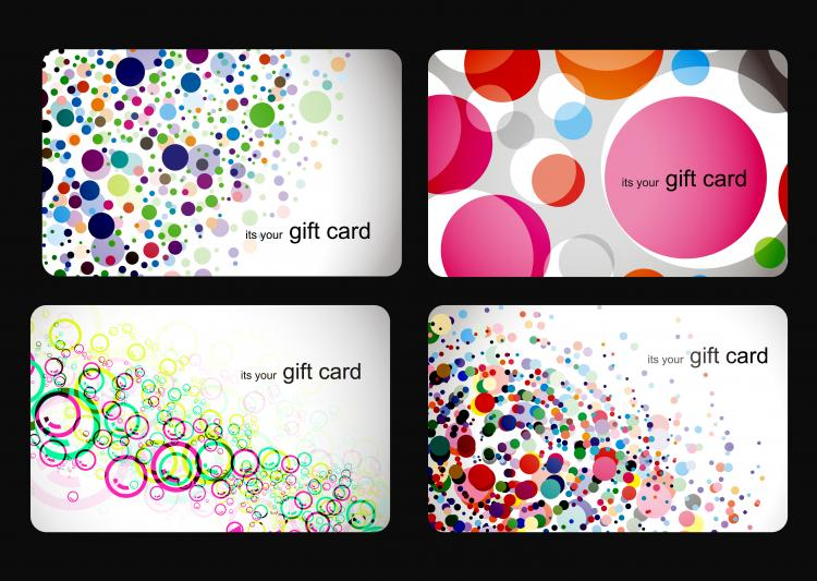 free vector Gift card vector