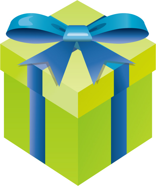 free vector Gifts gift box set of vector