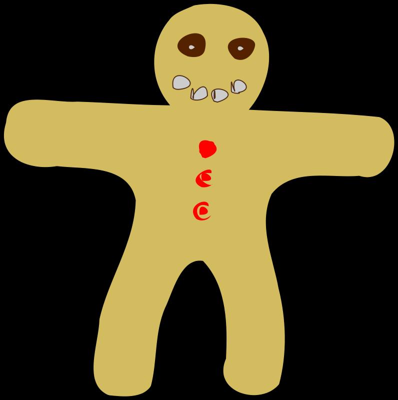 free vector Gingerbread Man 100834