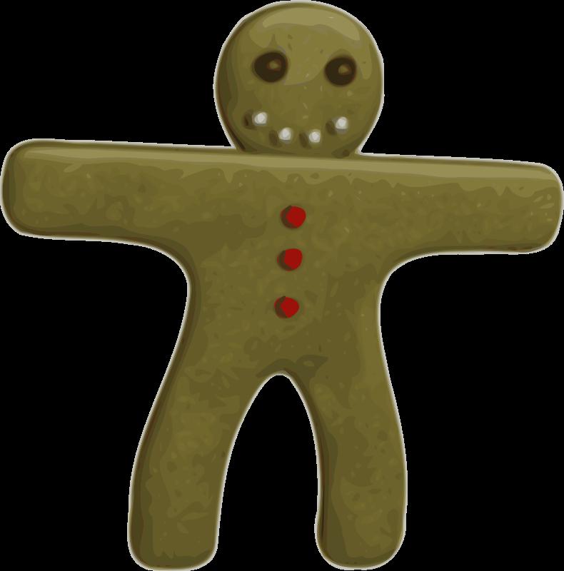free vector Gingerbread Man 100835