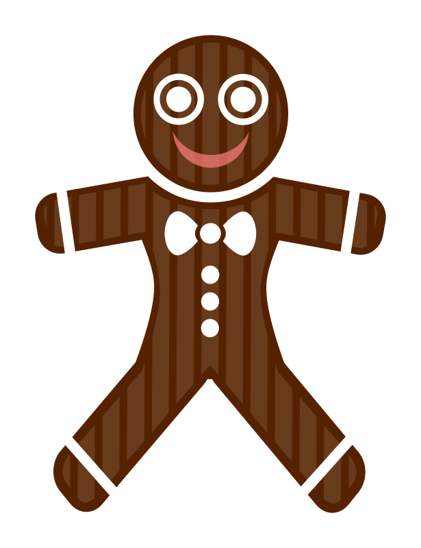 free vector Gingerbread Man 99931