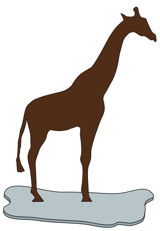 free vector Giraffe on ice brown
