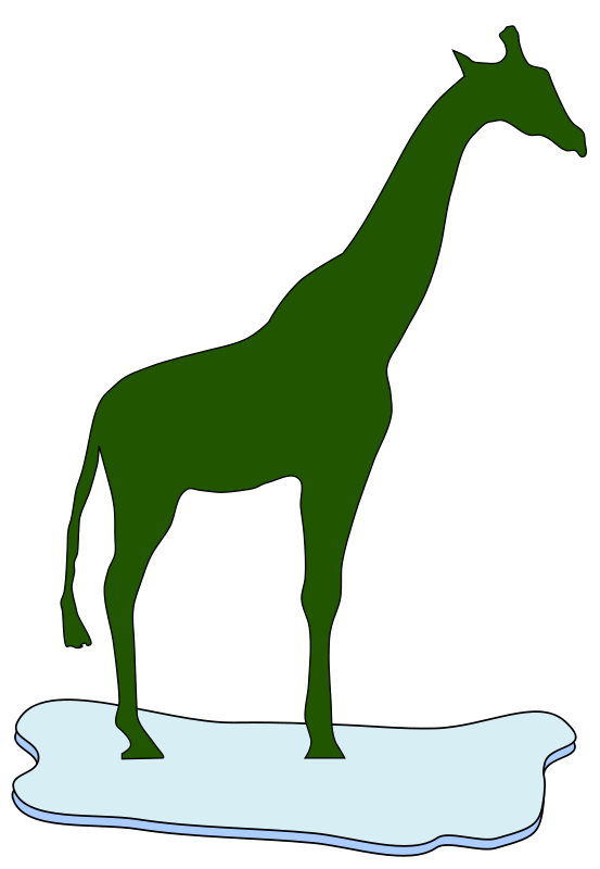 free vector Giraffe on ice