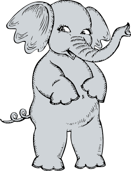 free vector Girl Elephant clip art