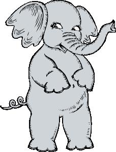 free vector Girl Elephant clip art