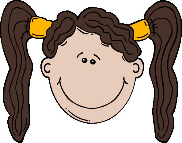 free vector Girl Face Cartoon clip art 108653