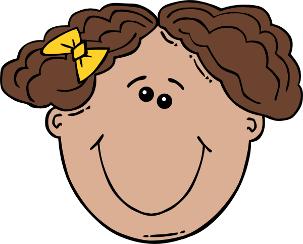 Girl Face Cartoon clip art Free Vector / 4Vector