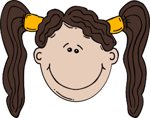 free vector Girl Face Cartoon clip art