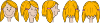 free vector Girl Face Character Development clip art