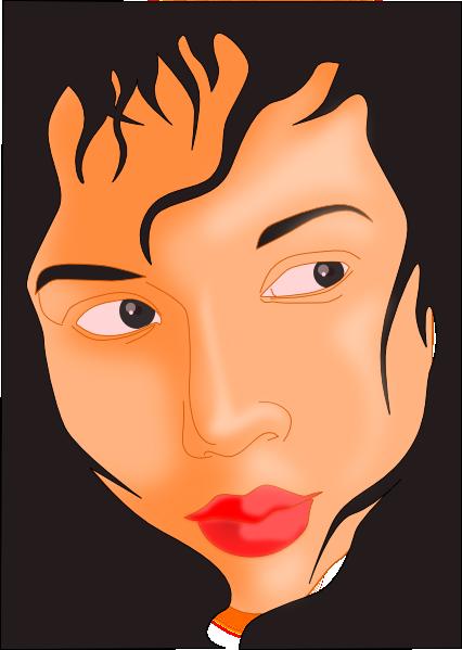free vector Girl Face In Black Frame clip art