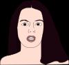 free vector Girl Head clip art