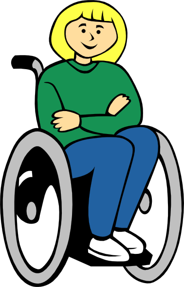 free vector Girl In Wheelchair clip art