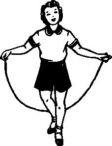 free vector Girl Jumping clip art