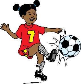 girl playing soccer clip art free vector 4vector rh 4vector com playing soccer clip art playing card clip art