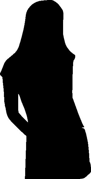 free vector Girl Silhouette clip art
