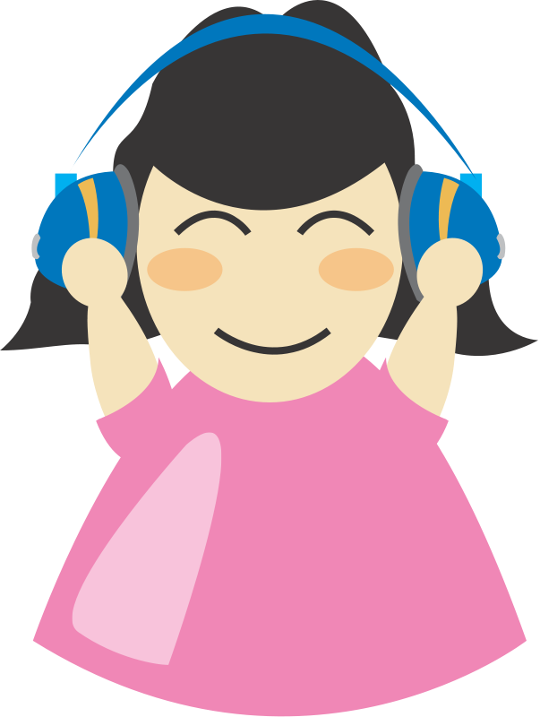 free vector Girl with headphone2