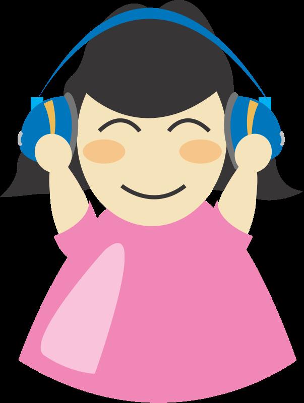 free vector Girl with headphone2