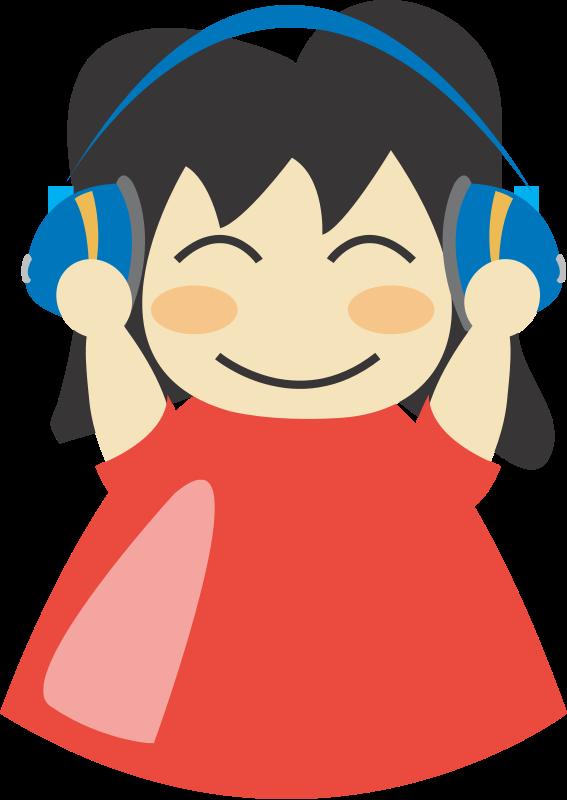 free vector Girl with headphone3