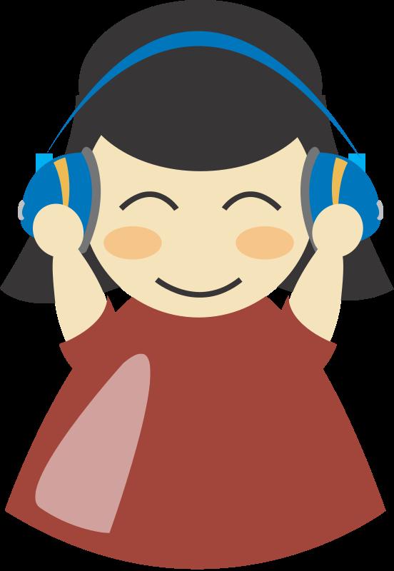 free vector Girl with headphone4