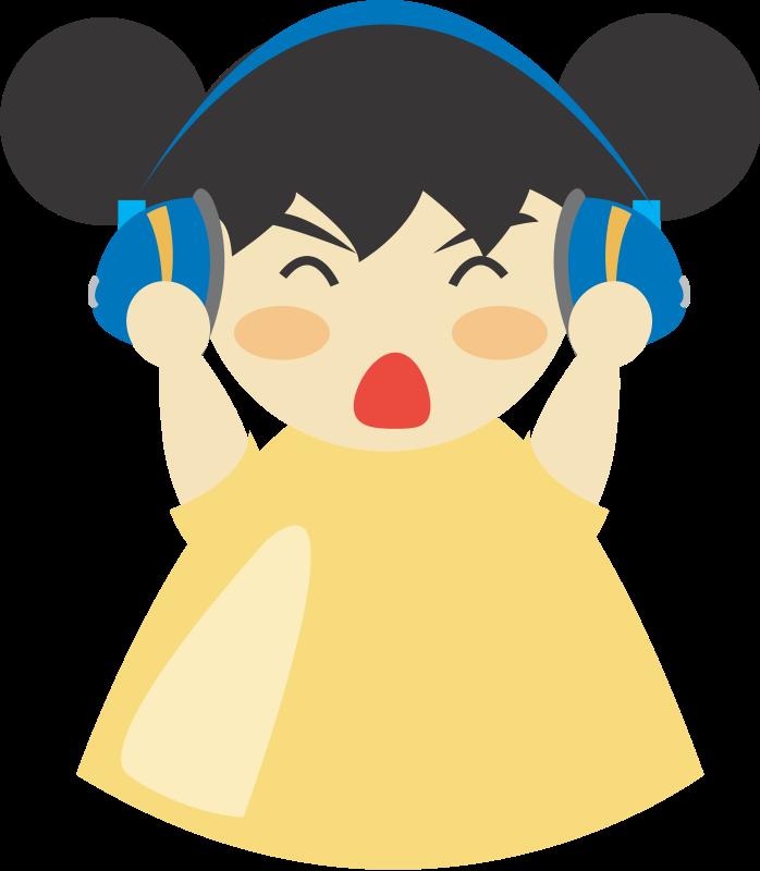 free vector Girl with headphone5