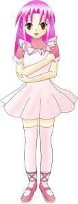 free vector Girl With Pink Hair clip art