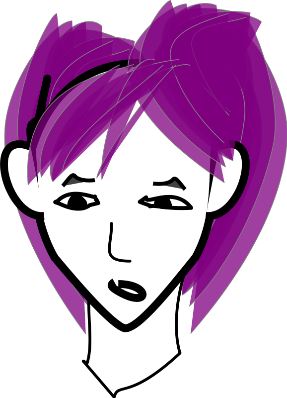 free vector Girl with purple hair