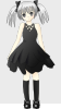 free vector Girl With Silver Hair clip art