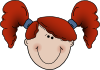 free vector Girlface clip art
