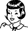 free vector Girls Hair Stlye clip art