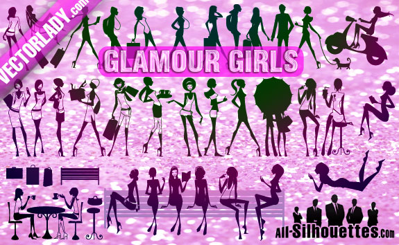 free vector Glamour Girls