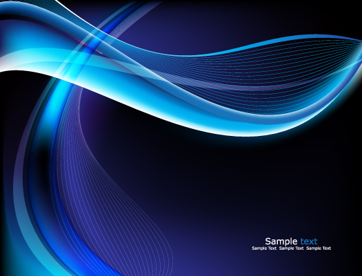 free vector Glare blue background vector
