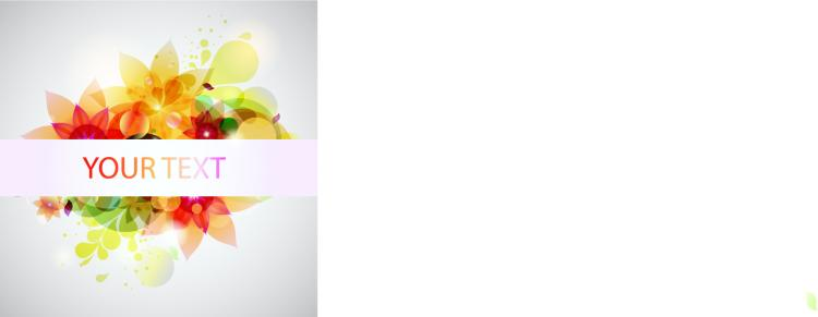 free vector Glare flower background vector