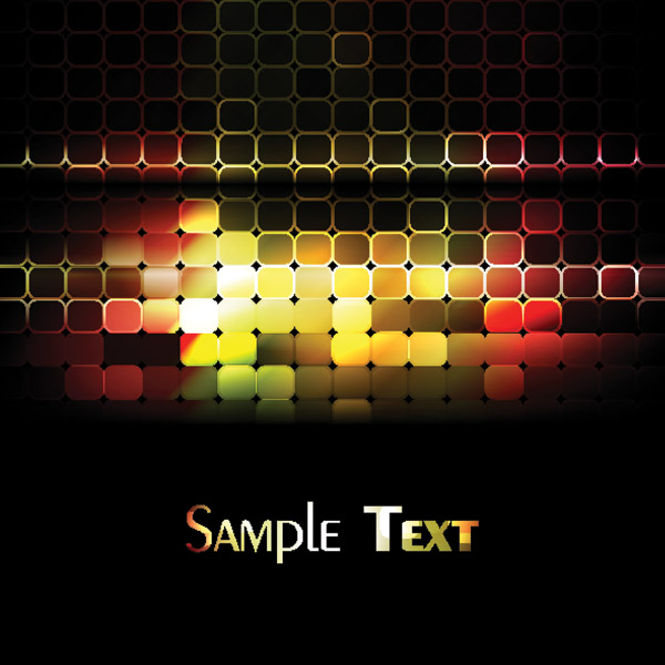 free vector Glare lattice vector background