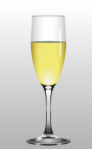 free vector Glass Of Champagne clip art