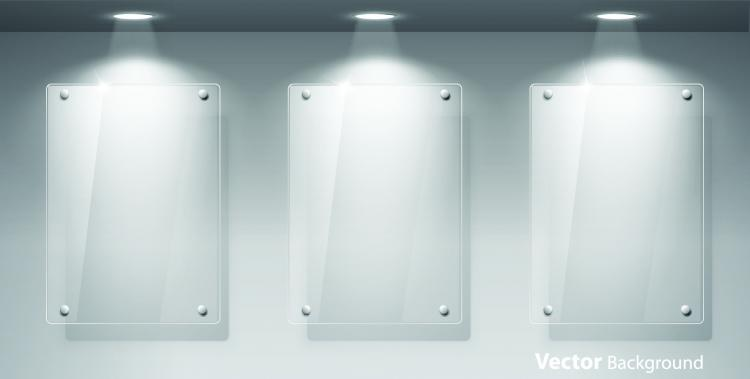 free vector Glass showcase for 04 vector