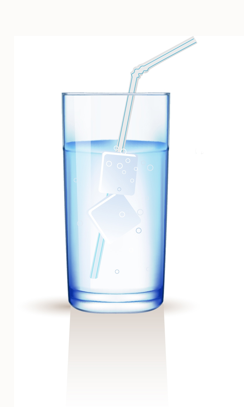 free vector Glass with water