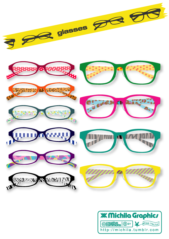 free vector Glasses Vector Set