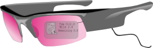 free vector Glasses With Gps clip art