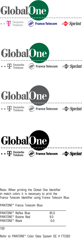 free vector Global One ID logo