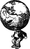free vector Globe Man clip art