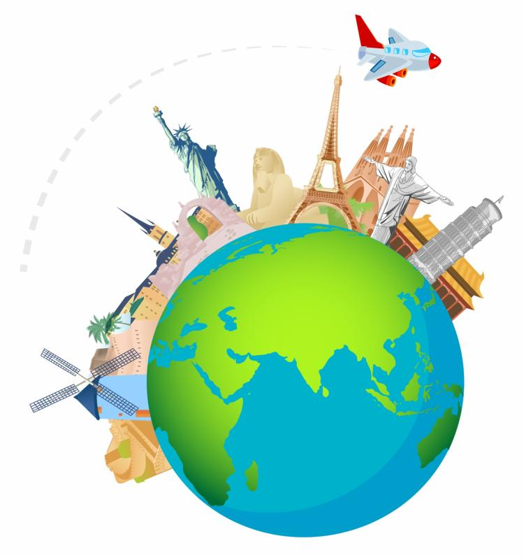 free vector Globetrotting