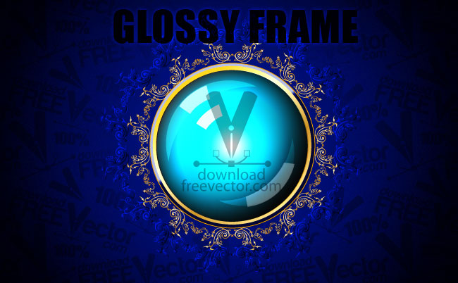 free vector Glossy Frame