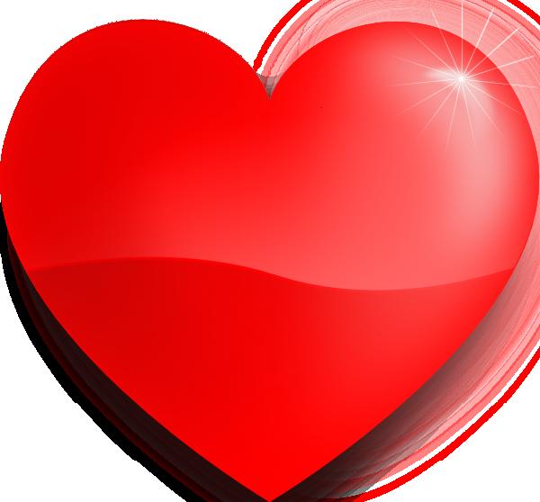 M Alphabet In Heart Glossy Heart clip art ...