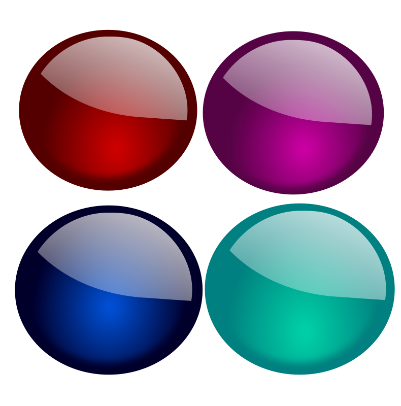 free vector Glossy Orbs-1