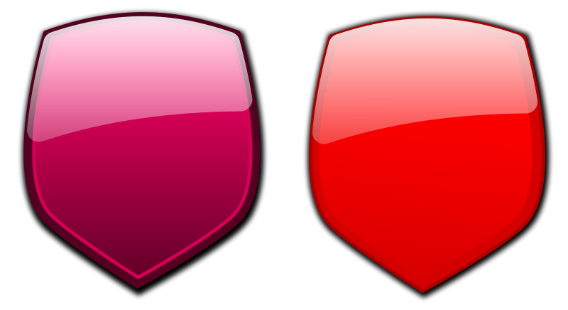 free vector Glossy shields 10