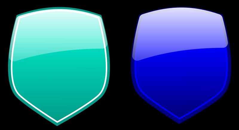 free vector Glossy shields 3