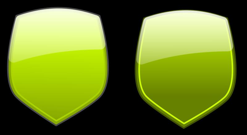 free vector Glossy shields 4