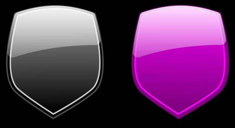 free vector Glossy shields 6