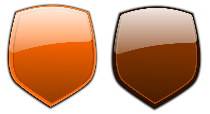 free vector Glossy shields 7